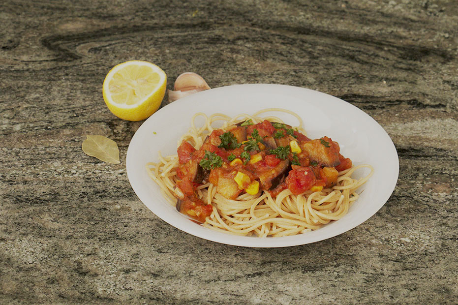 a nice plate of Pasta Arrabiata with parsley on top to make it taste & look better