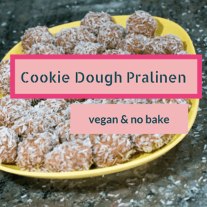 vegane Cookie Dough Pralinen - einfach & no bake